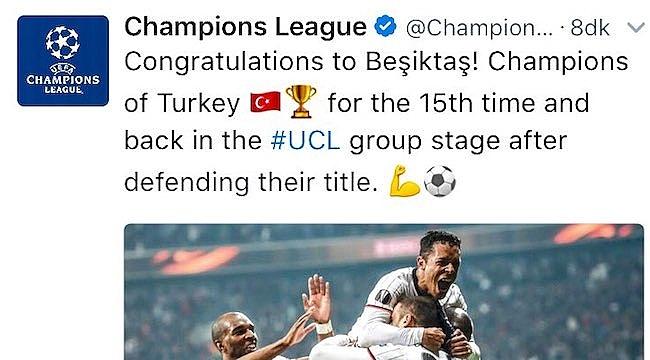 UEFA: Tebrikler, şampiyon unvanı ile gruplara dönüyor