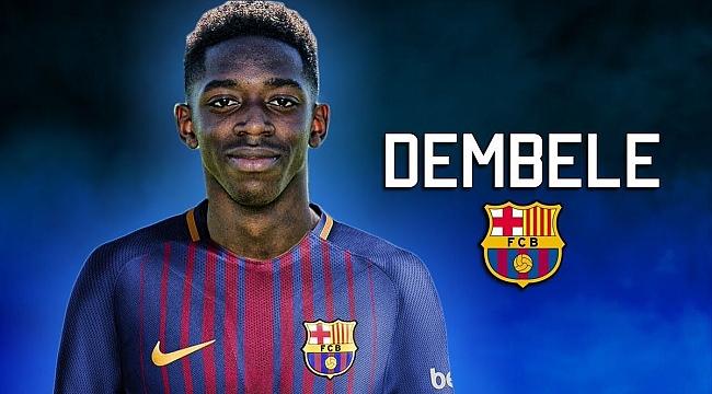 Barcelona, Ousmane Dembele ile 5 yıllık sözleşme imzaladı