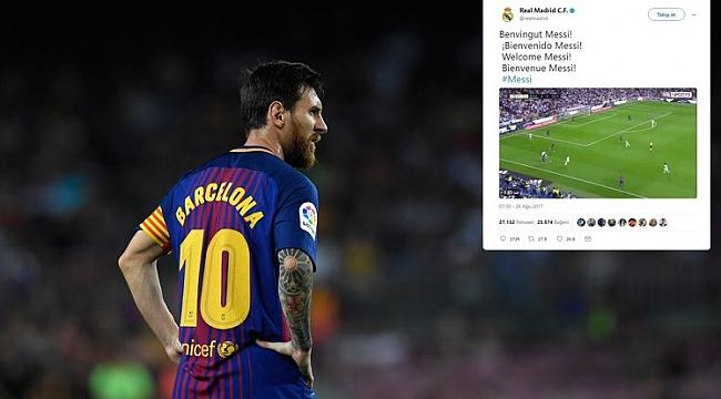 Real'e hoşgeldin Messi!