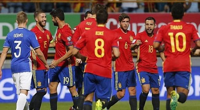İspanya gol oldu yağdı