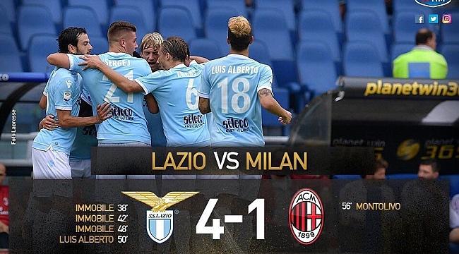 Lazio, Milan'ı parçaladı
