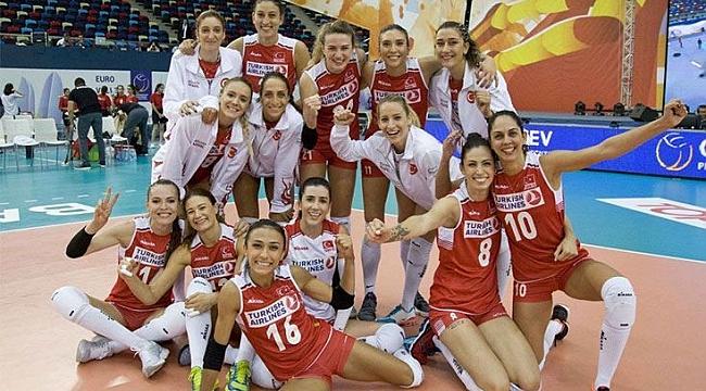 Türkiye A Milli Kadın Voleybol Takımı, Avrupa Şampiyonası'nda çeyrek finalde