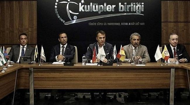 Kulüpler Birliği'nden Türk Lirası'na destek