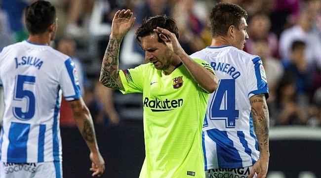 Leganes Barça'yı 2 dakikada şoka soktu
