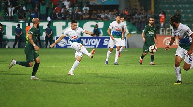 Rize'deki gergin maçta puanlar paylaşıldı