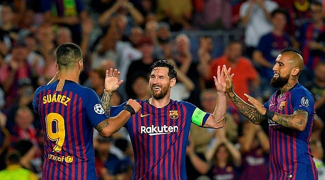 Şampiyonlar Ligi Messi şovla başladı