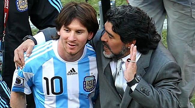 Maradona'dan Lionel Messi'ye ağır sözler
