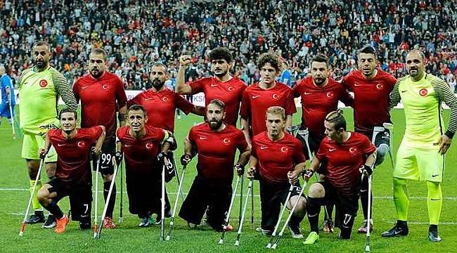 Ampute Futbol Milli Takımı çeyrek finale yükseldi