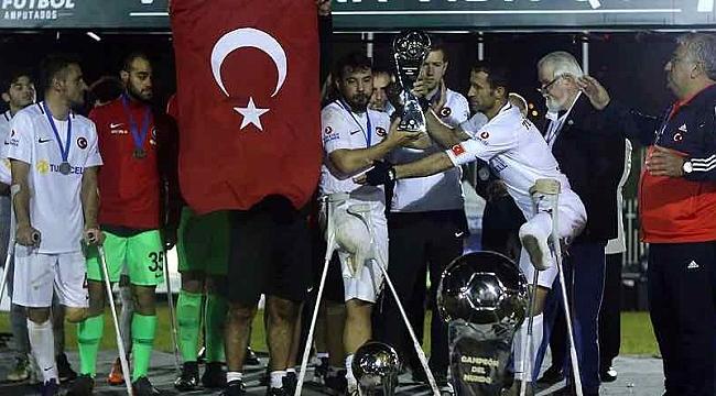 Ampute Futbol Milli Takımı dünya ikincisi oldu