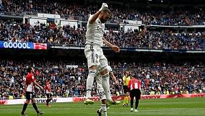Real Madrid Bilbao'yu Benzema'nın hat-trick'iyle geçti
