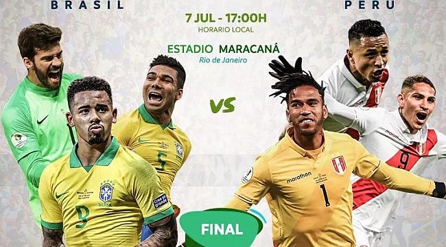 Brezilya ile Peru finalde karşı karşıya