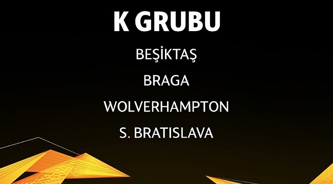 Beşiktaş'ın UEFA Avrupa Ligi fikstürü belli oldu