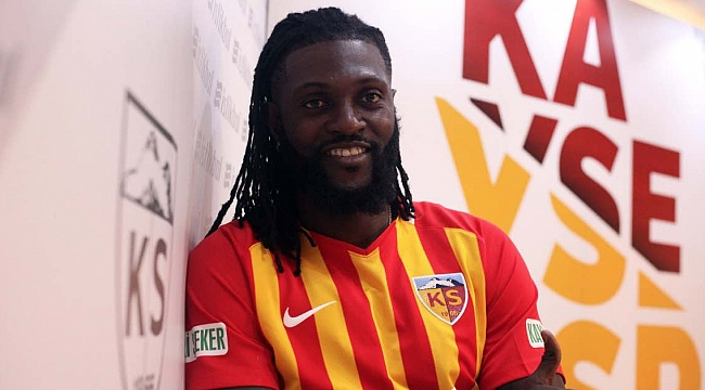 Emmanuel Adebayor Kayserispor'da