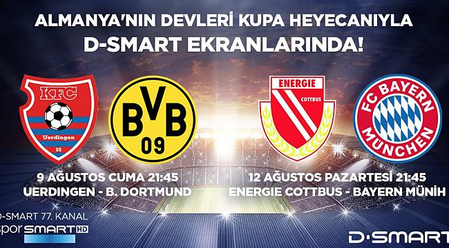 Energie Cottbus - Bayern Münih maçı D-Smart'ta