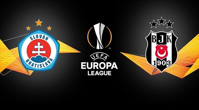 Beşiktaş Bratislava'da 3 puan arıyor