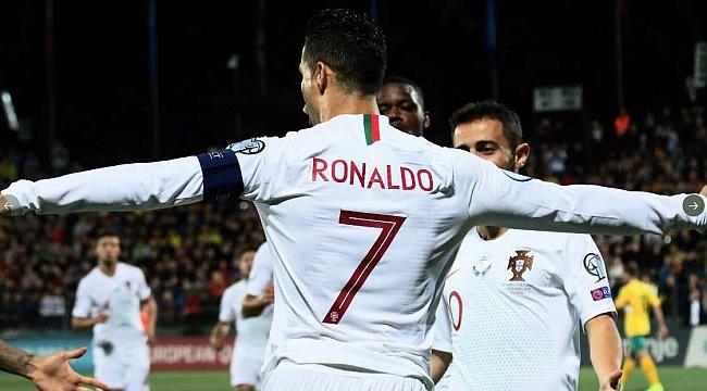 Cristiano Ronaldo'dan Litvanya'ya 4 gol birden