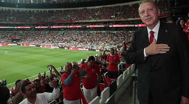 Cumhurbaşkanı Erdoğan da maçtaydı