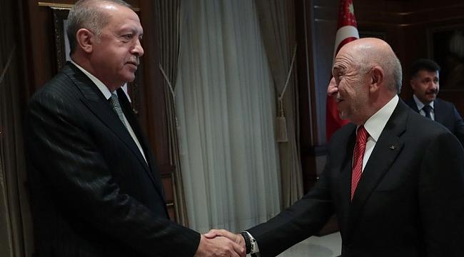 Cumhurbaşkanı Erdoğan TFF heyetini kabul etti