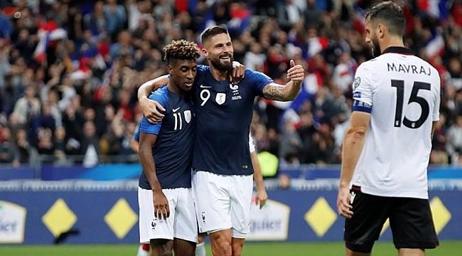 Fransa Arnavutluk'u kolay geçti: 4-1