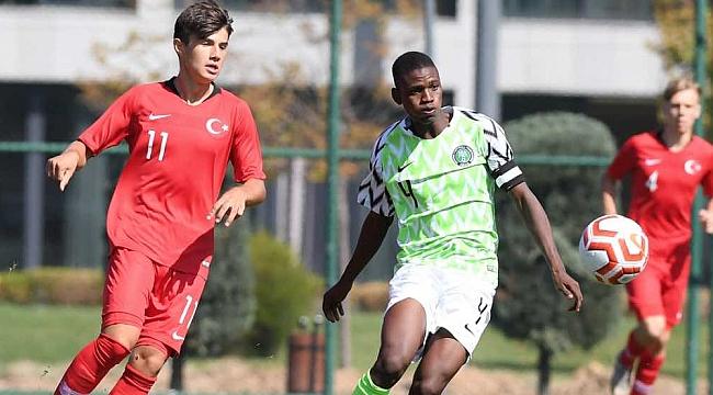 UEFA ASSIST U17 Uluslararası Turnuvası'nın ilk maçında Nijerya'ya yenildik