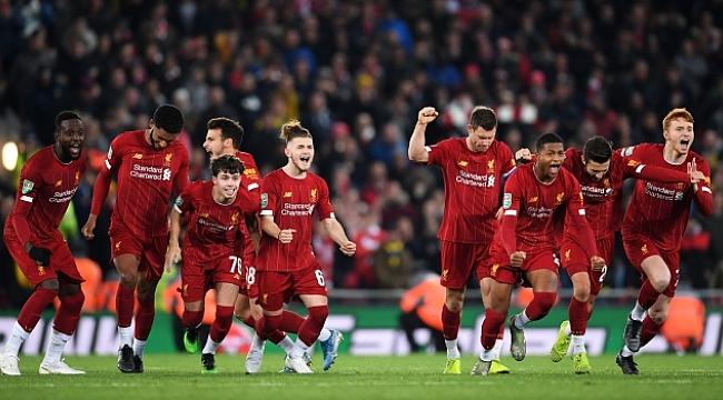 10 gollü maçta Liverpool Arsenal'i penaltılarla eledi