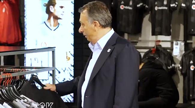 Beşiktaş'ta Başkan Ahmet Nur Çebi'den kampanya'ya destek
