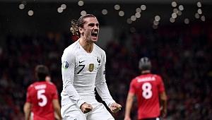 Fransa da Arnavutluk'u 2-0 yendi