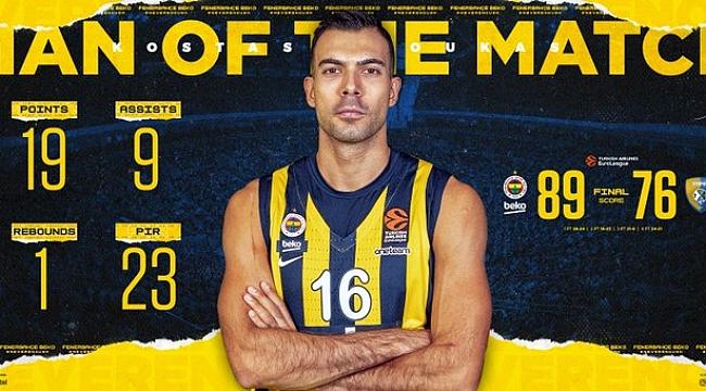 Maçın Adamı Kostas Sloukas seçildi