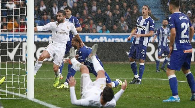 Real Madrid Alaves deplasmanından galibiyetle dönüyor