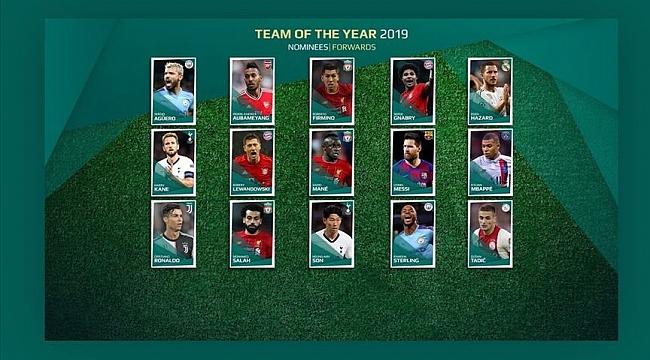 UEFA Yılın Onbiri için aday futbolcuları açıkladı