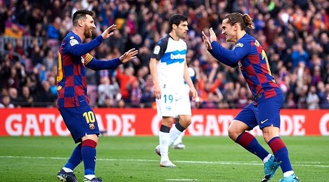 Barcelona Alaves'i dört golle geçti
