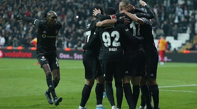 Beşiktaş Kayserispor'u da mağlup etti