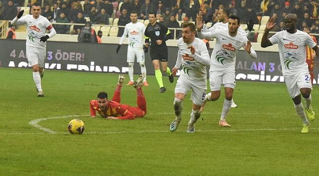 Çaykur Rizespor Malatya'dan üç puan çıkardı