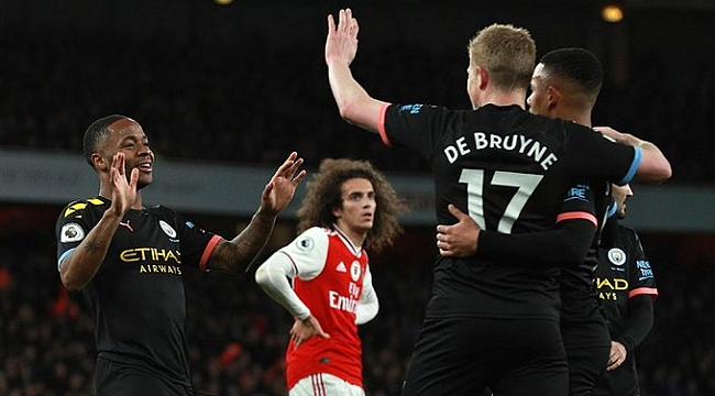 De Bruyne coştu City Arsenal'i farklı yendi