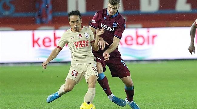 Galatasaray Trabzonspor'u 90. dakikada yakaladı