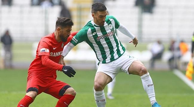 Konyaspor ile Gaziantep FK yenişemedi