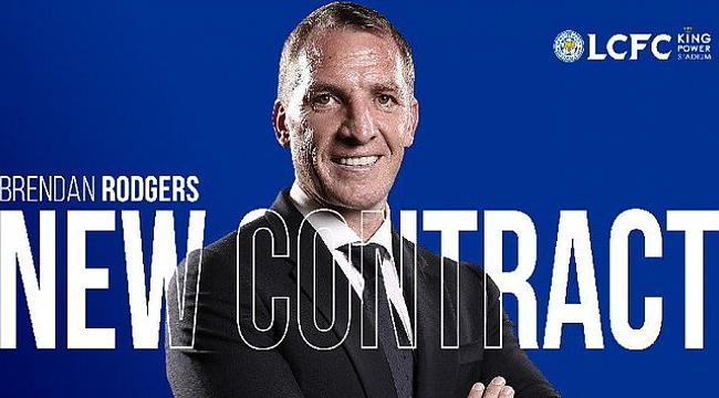 Leicester City Brendan Rodgers'la 2025 yılına kadar sözleşme uzattı