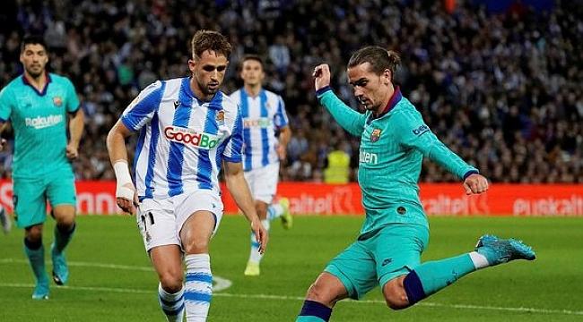 Real Soceidad'tan Barcelona'ya çelme