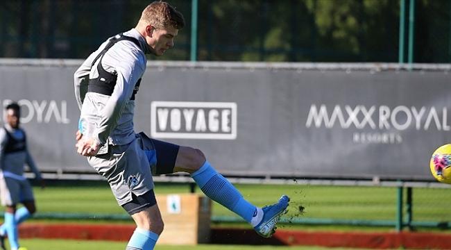 Trabzonspor'da Sörloth takımla çalışmalara başladı