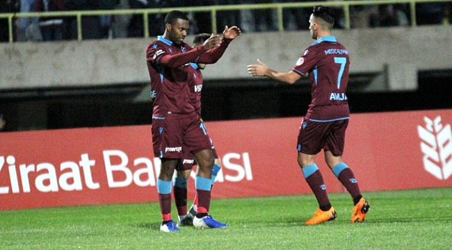 Trabzonspor turu yabancılarıyla kolayladı