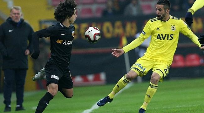 Fenerbahçe Kayserispor'la yenişemedi