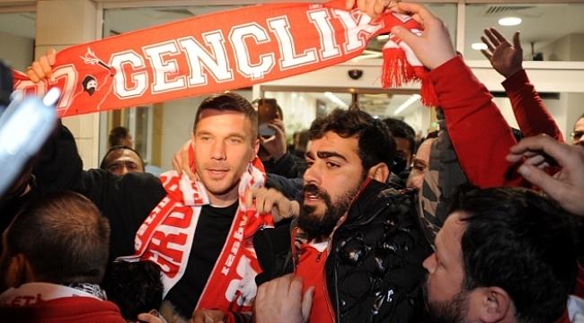 Lukas Podolski Antalya'da