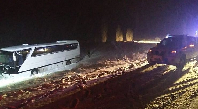 Sivasspor Altyapı oyuncularını taşıyan otobüs kaza yaptı