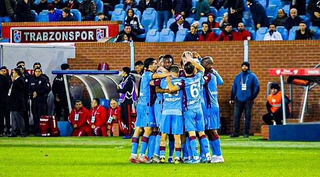 Trabzonspor çeyrek final için avantajı kaptı