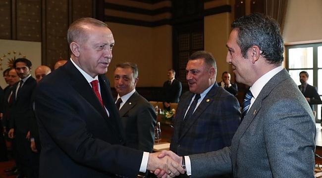 Türkiye Cumhurbaşkanı Erdoğan, TFF ve Kulüpler'i kabul etti