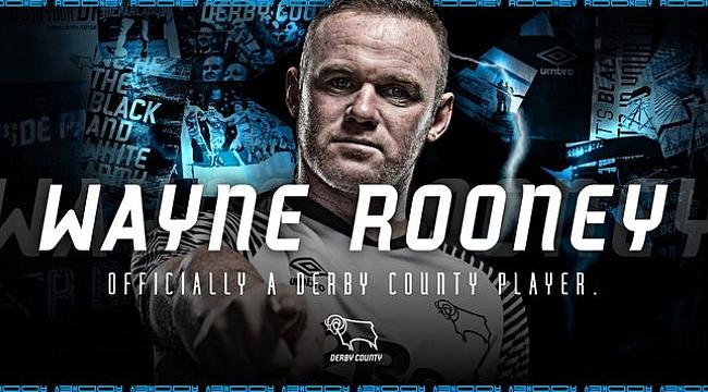 Wayne Rooney resmen Derby County'de