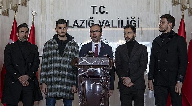 Yıldız futbolculardan Elazığ'a moral ziyareti