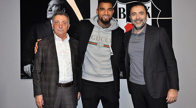 Beşiktaş Başkanı Çebi Boateng ile bir araya geldi