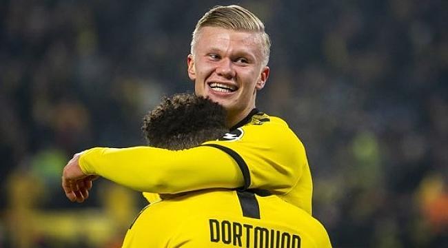 Haaland Dortmund'taki üçüncü maçında 7 gole ulaştı