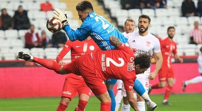 Kupa'da Antalya ile Sivas golsüz berabere